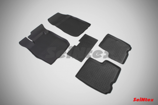 Резиновые ковры с высоким бортом в салон для Lada (ВАЗ) Largus 5 мест