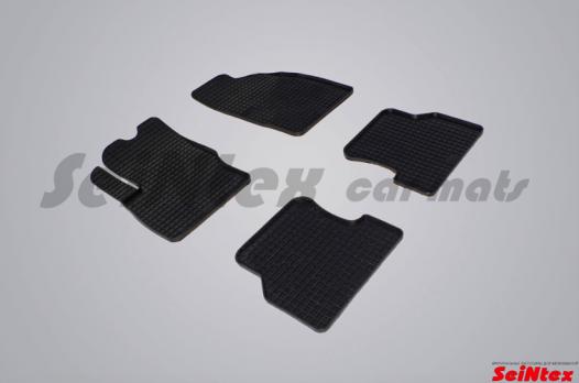 Резиновые ковры сетка в салон для Ford Focus II (2004-2011)