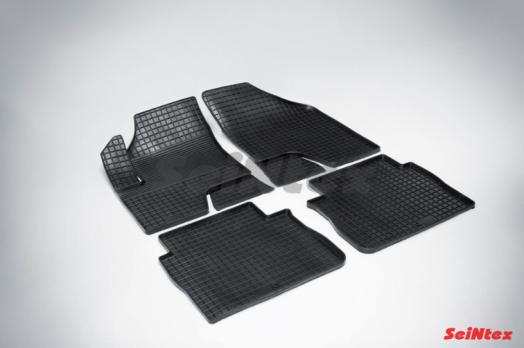 Резиновые ковры сетка в салон для Hyundai Santa Fe (2006-2013) педаль газа сверху