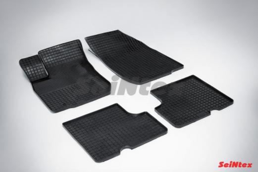 Резиновые ковры сетка в салон для Renault Logan (2004-2014)