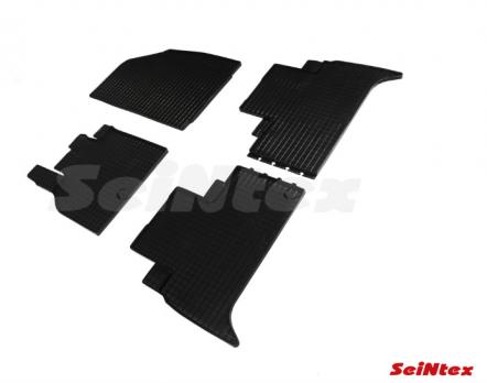 Резиновые ковры сетка в салон для Renault Scenic III (2009-н.в.)