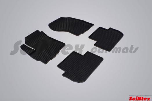 Резиновые ковры сетка в салон для Peugeot 4007 (2007-2012)