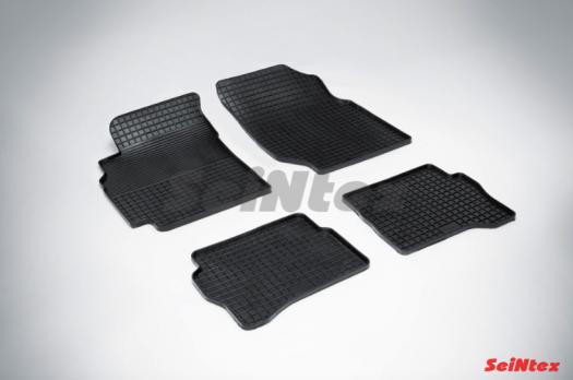 Резиновые ковры сетка в салон для Nissan Almera Classic (2006-2013)