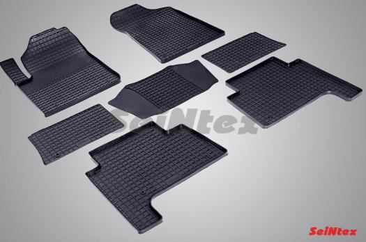 Резиновые ковры сетка в салон для Nissan Patrol (2010-н.в.)