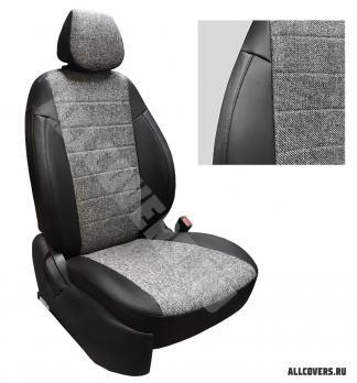 Модельные авточехлы для Nissan Almera Classic (2006-2013) из экокожи Premium и твид