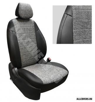 Модельные авточехлы для Lada (ВАЗ) Vesta / Vesta SW Cross из экокожи Premium и твид