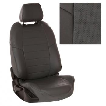 Модельные авточехлы для Chevrolet Lanos из экокожи Premium, серый